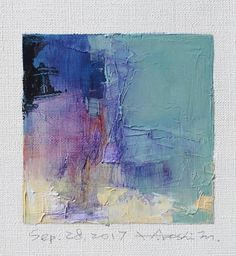 Sep. 28 2017 Original Abstract Oil Painting 9x9 painting