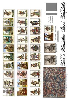 """My New free miniature book printie of the """"Costumes of the Trades"""" 1695 by Nicolas Larmessin."""