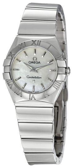 654aa61db2723 Omega Women s 123.10.24.60.05.002 Constellation Mother-Of-Pearl Dial Watch