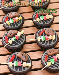 Barbecue Grill Cupcakes......I need to make these for steve's b-day