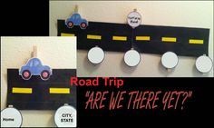 "Road trip for fun for young kids - activities other than a DS or DVD (though those are included) and a fun Road Map for the kids to follow so that you don't hear, ""Are we there yet?"""