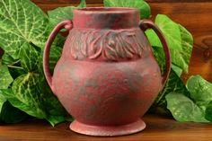 Burley Winter Pottery Gray over Purple Vellum Floral Design Vessel 1925 Pottery Studio, Pottery Art, Zanesville Ohio, Roseville Pottery, Winter Art, Ultra Violet, Floral Design, Purple, Gray
