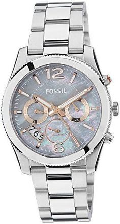 Montre pour femme : Fossil Women's Stainless Steel Bracelet Watch >>> Find out m… Stylish Watches, Luxury Watches, Cool Watches, Perfect Boyfriend, Boyfriend Watch, Luxury Watch Brands, Fossil Watches, Beautiful Watches, Pandora Jewelry