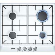 BOSCH - PCP612B80E _ Table de cuisson Gaz - 1 foyer rapide 3 kW - Allumage intégré aux manettes - Sécurité gaz par thermocouple - Grilles émaillées.