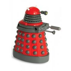 The classic villain from the smash-hit BBC TV series Doctor Who . Wind up the Dalek and watch it patrol around menacingly, moving its head from left to right as it watches out for any enemies to exterminate! Its ready to spread terror across the universe!