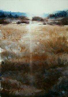 Paesaggio con il sole - 35x50 cm
