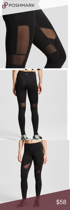"""Embrace Must Have Tight with Mesh C9 Champion • Duo Dry+™ technology wicks moisture and dries fast • Power Core Compression® supportive fit • Comfort flat seams • Fitted, full length • Model wears size XS/S and is 5'8.5""""  The Elevated Performance Legging from C9 Champion® features our Embrace fabric: Hugs you tight. Holds you in. With a fit that hugs from your hips all the way to the ankle, this pant will get you through your toughest workouts.  Material: 85% Polyester, 15% Spandex, Garment…"""