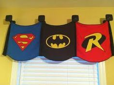 Curtains for superhero room AHHH!! i must redo their room!!