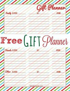 Free Printable Gift Planner (No Strings!) - Keep your gift planning organized this Christmas with this FREE Printable Gift Planner! (also has one for thanksgiving) Frugal Christmas, Christmas Printables, All Things Christmas, Christmas Holidays, Christmas Crafts, Christmas Ideas, Christmas Planning, Winter Holidays, Christmas Presents