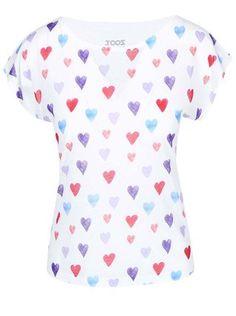 ZOOT Originál - Bílé dámské tričko s potiskem  Srdce - 1