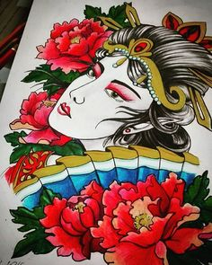 Some color.#artwork #art #tattoodesign #traditional #peony #peonytattoo #instagram #instagallery #instapic #traditionaltattoo #vscocam #pic #like4like #skinart #gdansk #trojmiasto #tattooartist #girlytattoo #girls #colores #ornaments