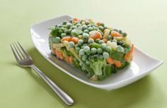 A 4-person serving of frozen vegetables on the 100% Can't Fail SlimQuik Hyper-Locavore Diet.