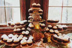woodland cupcake tower