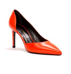 Saint Laurent Paris 105 d'Orsay pumps in Neon Orange