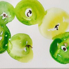 Green apples by cindy phelan