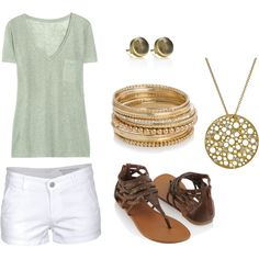 ...gold jewelry summer outfit