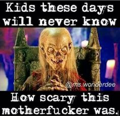 Lol yep, but I couldn't get enough of the show! Best Horror Movies, Classic Horror Movies, Horror Show, Scary Movies, Horror Art, Horror Films, 80s Movies, Movie Memes, Funny Memes