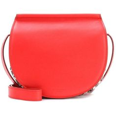 Givenchy Infinity Saddle Leather Shoulder Bag (€1.760) ❤ liked on Polyvore featuring bags, handbags, shoulder bags, red, leather purses, genuine leather purse, givenchy purse, red shoulder bag and leather shoulder handbags