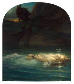 Paul Delaroche  (1797-1856) Young Christian Martyr