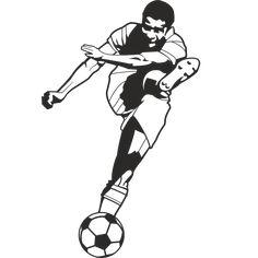 Vinilo silueta jugador de futbol