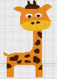 Giraffe Crochet Chart/Graph Pattern