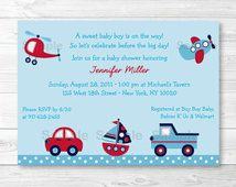 Baby Shower Invitation for Boys
