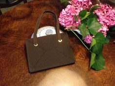 silk brown grosgrain evening and cocktail 60s bag