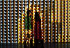 rafael lozano hemmer: make out digital installation - designboom