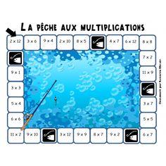 La pêche aux multiplications Multiplication Test, Math Addition, Fishing Girls, 2nd Grade Math, Numeracy, School Hacks, Elementary Math, Teaching Math, Math Activities