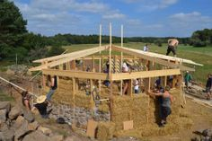 Straw Bale Workshop in Ecotopia, Tomelilla, South Sweden, led by asbn (Herbert Gruber)