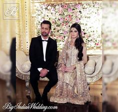 #Atif Aslam and his new bride #Sara in their reception