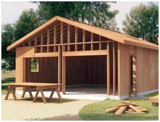 G384 24 x 40 x 9 detached garage with bonus room garage step by step diy garage building guide from wood store solutioingenieria Images