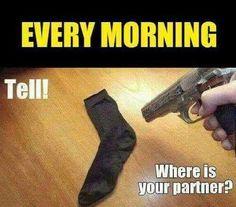 My kids are always losing their socks. Lol.
