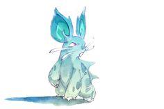 saveroomminibar:  Nidoran♀ andNidoran♂ Watercolour Evolutionsby Nicholas Kole on Behance