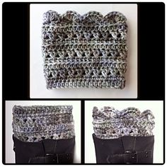Multi gray boot cuffs on Etsy, $10.00