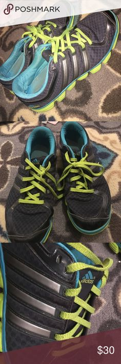 Women's Size 9 Adidas Tennis Shoes Blue and Green women's tennis shoes slightly worn Adidas Shoes Athletic Shoes