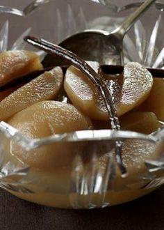 Pærer i konjakk og vaniljelake - Mat Pa Bordet Christmas And New Year, Panna Cotta, Goodies, Food And Drink, Tableware, Ethnic Recipes, Desserts, Brown, Baking Soda