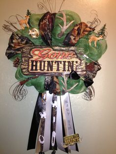 Baby Boy Camo Wreath by WreathsMumsandMore on Etsy, $50.00