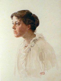 A self portrait of herself,the Grand Duchess Olga Alexandrovna Romanova of…