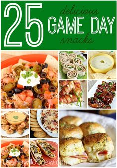 25 Delicious Game Day Snacks from TheHowToCrew.com.  Just in time for the Super Bowl! #recipes #appetizers #snacks #football