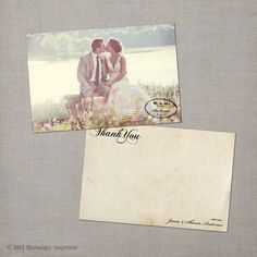 Vintage Wedding Thank You Cards  the Sharon by NostalgicImprints, $38.75