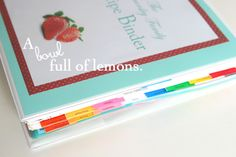 Recipe Binder. I made it and love it! Though mine isn't this pretty, lol!