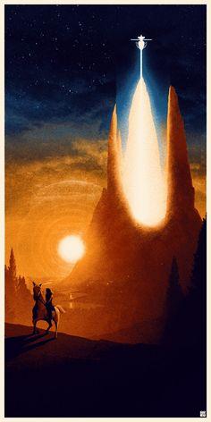 Matt Ferguson – Distant Lands Art Show Gallery Fantasy Movies, High Fantasy, Sci Fi Fantasy, Fantasy World, The Neverending Story, Pop Culture Art, The Dark Crystal, Environment Concept Art, Film Serie