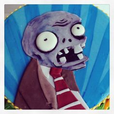 Plants vs. Zombies cake by Mama Bakes Cakes