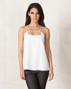 f14b418502da KEEPSAKE WHITE MIRROR IMAGE TOP available on shopfashtique.com White  Mirror