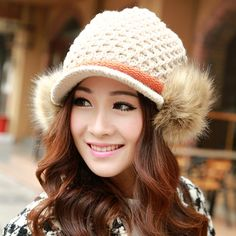 6 colors knitting women winter hat warm girl hat by wangscarf