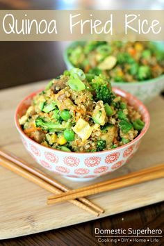Quinoa 'Fried Rice' is the perfect recipe for eating healthy, but not sacrificing flavor!