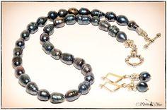 Handmade, cu suflet!: Set din perle de cultura si elemente argintii.