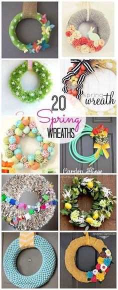 20 DIY Spring Wreaths! by Calihose