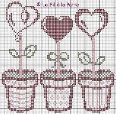 un solo color Cross Stitch Heart, Cross Stitch Cards, Cross Stitch Flowers, Counted Cross Stitch Patterns, Cross Stitch Designs, Cross Stitching, Embroidery Hearts, Cross Stitch Embroidery, Embroidery Patterns
